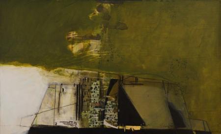 Ziggurat 45x76cm mixed media on board Gall P £2,500
