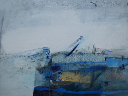 Chateauneuf 31x41cm oil +mixed media on board Gall P £1100