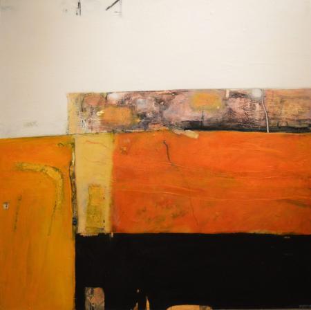 Orange Band Landscape II 90x90cm mixed media on board Gall P £3650