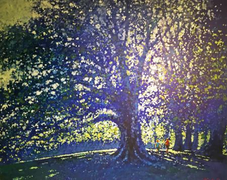 Hampstead Heath in Blue