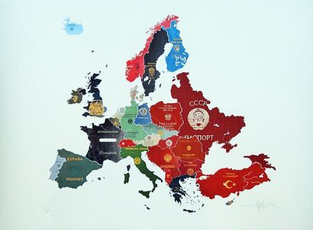 1960s_Europe passport map