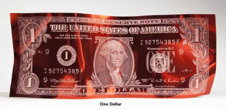 Dollar Bill Red