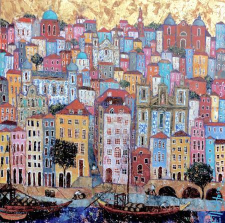 Porto-Harbourside-Ellie-Hesse-oil-painting-2