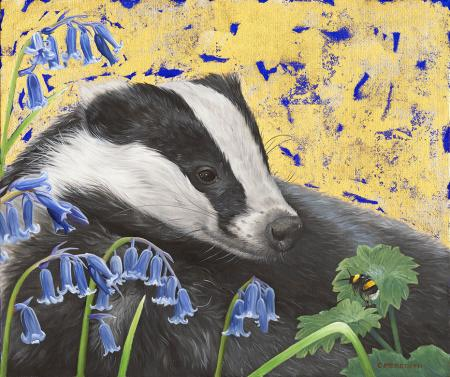 Badger-Bluebells