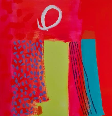 MISS BICKNELL'S SUMMER GARDEN Acrylic on Canvas 50cm x 50cm