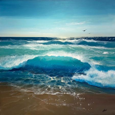 ocean beach seascape painting